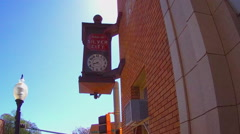 Old Fashioned Town Clock In Historic Downtown Silver City NM Stock Footage