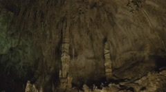 Cave Ceiling With Mineral Deposit Pillars- Carlsbad Caverns Stock Footage