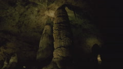 Thick Stalagmite Pillars- Carlsbad Caverns National Park - stock footage