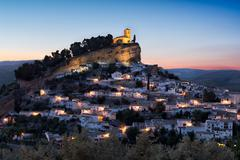 Montefrio at sunset, Andalusia, Spain - stock photo