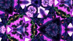 Dark Purple Crystal Kaleidoscope Stock Footage