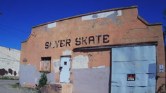 Old Fashioned Derelict Roller Skating Rink- Silver City New Mexico Stock Footage