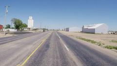 POV Driving Through Idalou Texas Agricultural Farming Community Stock Footage