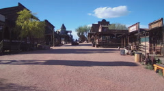Main Street In Old West Town- Apache Junction AZ Stock Footage