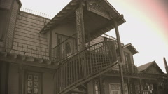 Old West Bordello Close Up Shot- Apache Junction AZ- Sepia Tone Stock Footage