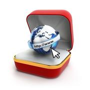 Stock Illustration of Free internet concept. Browser sign in gift box.