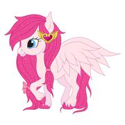 Pink pegasus illustration Stock Illustration