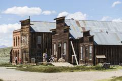 Bodie Ghost Town Tourists - stock photo