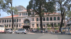 Saigon Central Post Office in Ho Chi Minh City, Vietnam Stock Footage