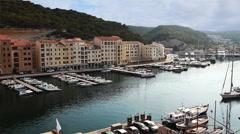 Stock Video Footage of The harbor and marina at Bonifacio in Corsica