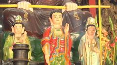 Sanctuary at the Giac Vien Pagoda in Ho Chi Minh City, Vietnam Stock Footage