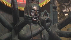 Altar at the Giac Vien Pagoda in Ho Chi Minh City, Vietnam - stock footage
