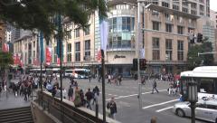 Busy corner Sydney Australia timelapse Stock Footage