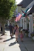 Main street in Westhampton on Long Island USA Stock Photos