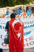 Stock Photo of Uyghur human rights activists protest
