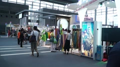 Stock Video Footage of The fifteenth China (Shenzhen) international brand clothing apparel trade fair