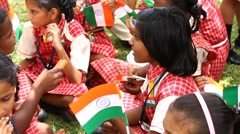 School Students independence day Stock Footage