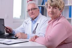 Appointment with patient Stock Photos