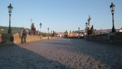 Charles Bridge Prague Czech Republic Stock Video - stock footage