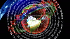 Global web digital internet network Stock Footage