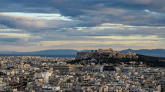 Acropolis from Strefi Stock Footage