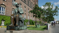 Hans Christian Andersen, Copehagen, Denmark Stock Footage