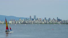 Kitsilano Point in Vancouver Stock Footage
