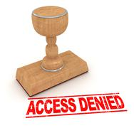 Rubber stamp - access denied - stock illustration