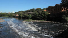 Piracicaba River is a river of Sao Paulo state in southeastern Brazil. Stock Footage