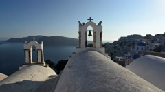 White-washed Churches in Oia, Santorini Stock Footage