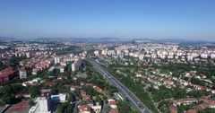 Sykscrapers in Istanbul - Airview with Drone Shooting Stock Footage