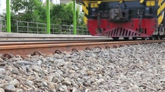 trains departure from station platform - stock footage