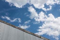 Corrugated Iron Factory Background - stock photo
