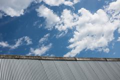 Corrugated Iron Factory Background Stock Photos