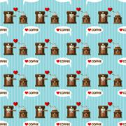 Coffee machine and coffee grinder seamless pattern Stock Illustration
