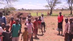 Poor African children in rural Kenya, Africa Stock Footage