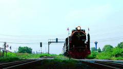 locomotive trains running - stock footage