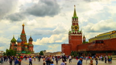 Kremlin and Red Square Moscow - stock footage