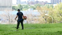 Working from Central Asia mow park Stock Footage