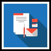 Business correspondence - stock illustration