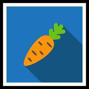 Carrot icon Stock Illustration