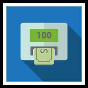 Cash machine - stock illustration