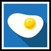 Fried egg - stock illustration