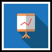 Graph on stand Stock Illustration