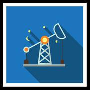 Oil rig - stock illustration