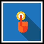 Pointing finger icon Stock Illustration