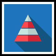 Pyramid levels Stock Illustration