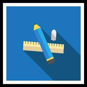 Stationary icon Stock Illustration