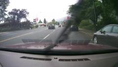 Street & Highway Driving at Rain - 01 - Fast Speed Stock Footage
