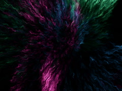 Stock Video Footage of Colorful emissions of an exotic matter